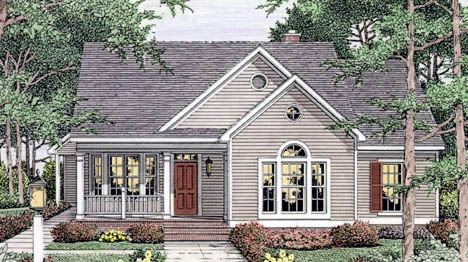 Country European Ranch House Plan 40006 Elevation