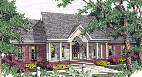 Cape Cod Colonial House Plan 40009 Elevation