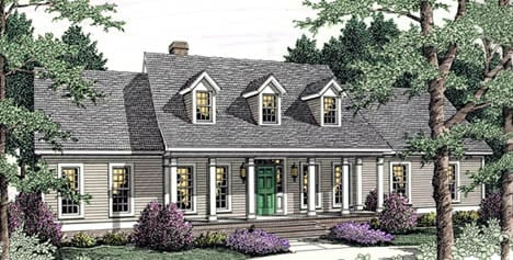 Country Ranch House Plan 40010 Elevation