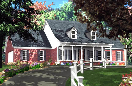 Cape Cod Country House Plan 40011 Elevation