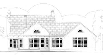 Cape Cod Colonial European House Plan 40012 Rear Elevation