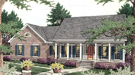 Colonial Southern House Plan 40016 Elevation
