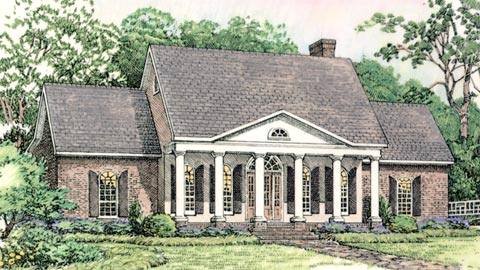 Colonial European Southern House Plan 40024 Elevation