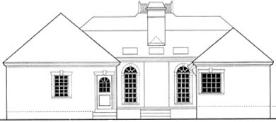 House Plan 40027 Rear Elevation