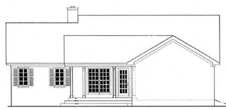 House Plan 40028 Rear Elevation