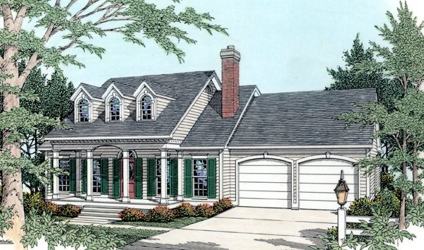 Cape Cod Country House Plan 40029 Elevation