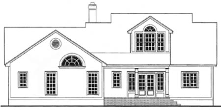 Cape Cod Country House Plan 40029 Rear Elevation