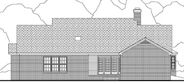 Country House Plan 40031 Rear Elevation