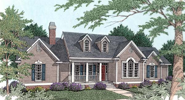Country House Plan 40033 Elevation