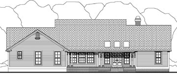 Country House Plan 40033 Rear Elevation