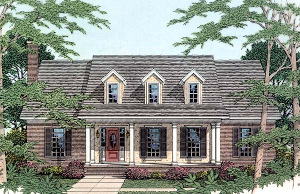 Cape Cod Country House Plan 40034 Elevation