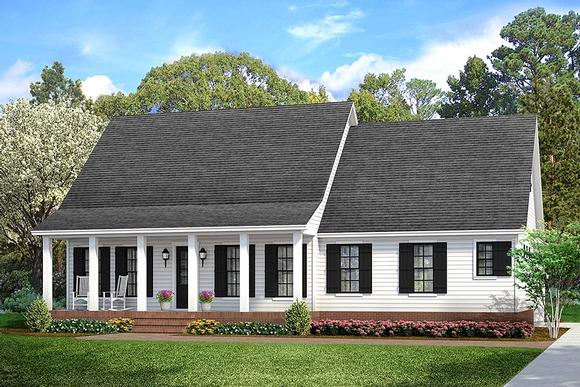 Cabin, Cottage, Country, Farmhouse, Southern, Traditional House Plan 40041 with 3 Beds, 2 Baths, 2 Car Garage Elevation
