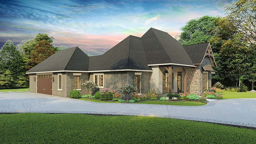 Cottage, Country, Craftsman, Southern, Traditional Plan with 2298 Sq. Ft., 4 Bedrooms, 3 Bathrooms, 2 Car Garage Picture 3