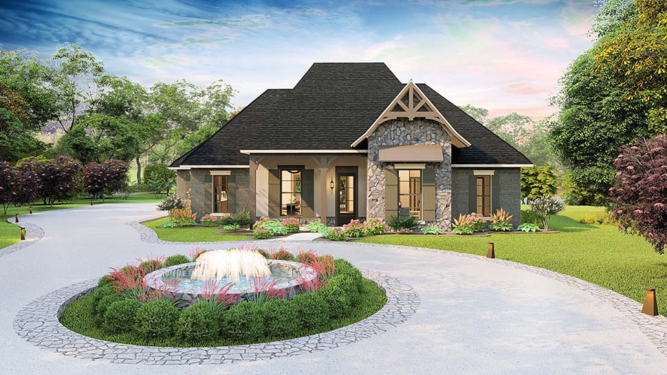 Cottage, Country, Craftsman, Southern, Traditional Plan with 2298 Sq. Ft., 4 Bedrooms, 3 Bathrooms, 2 Car Garage Picture 4
