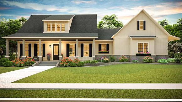 Cottage, Country, Farmhouse, Ranch, Southern, Traditional House Plan 40045 with 3 Beds, 2 Baths, 2 Car Garage Elevation