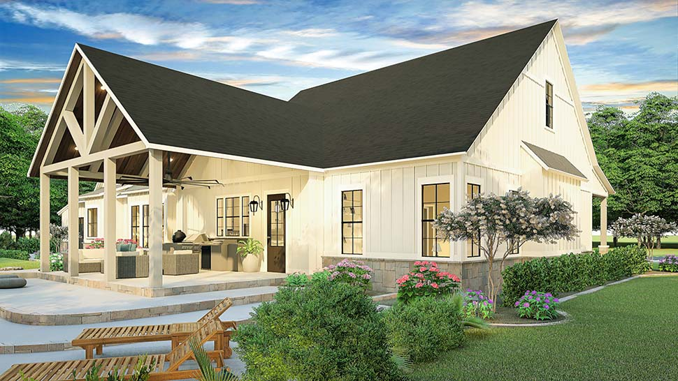 Cottage, Country, Farmhouse, Ranch, Southern, Traditional House Plan 40045 with 3 Beds, 2 Baths, 2 Car Garage Picture 1