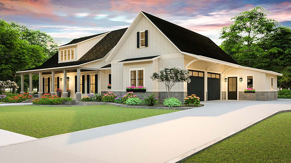 Cottage, Country, Farmhouse, Ranch, Southern, Traditional House Plan 40045 with 3 Beds, 2 Baths, 2 Car Garage Picture 3