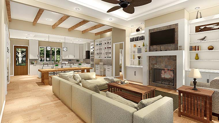 Cottage, Country, Farmhouse, Ranch, Southern, Traditional House Plan 40045 with 3 Beds, 2 Baths, 2 Car Garage Picture 5