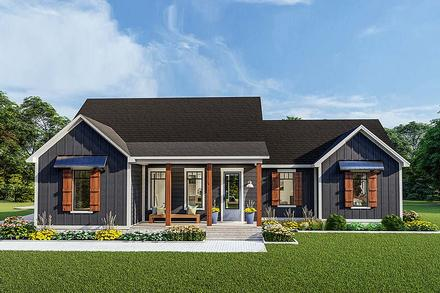 Cottage, Country, Craftsman, Farmhouse, Ranch, Southern, Traditional House Plan 40048 with 3 Beds, 2 Baths, 2 Car Garage