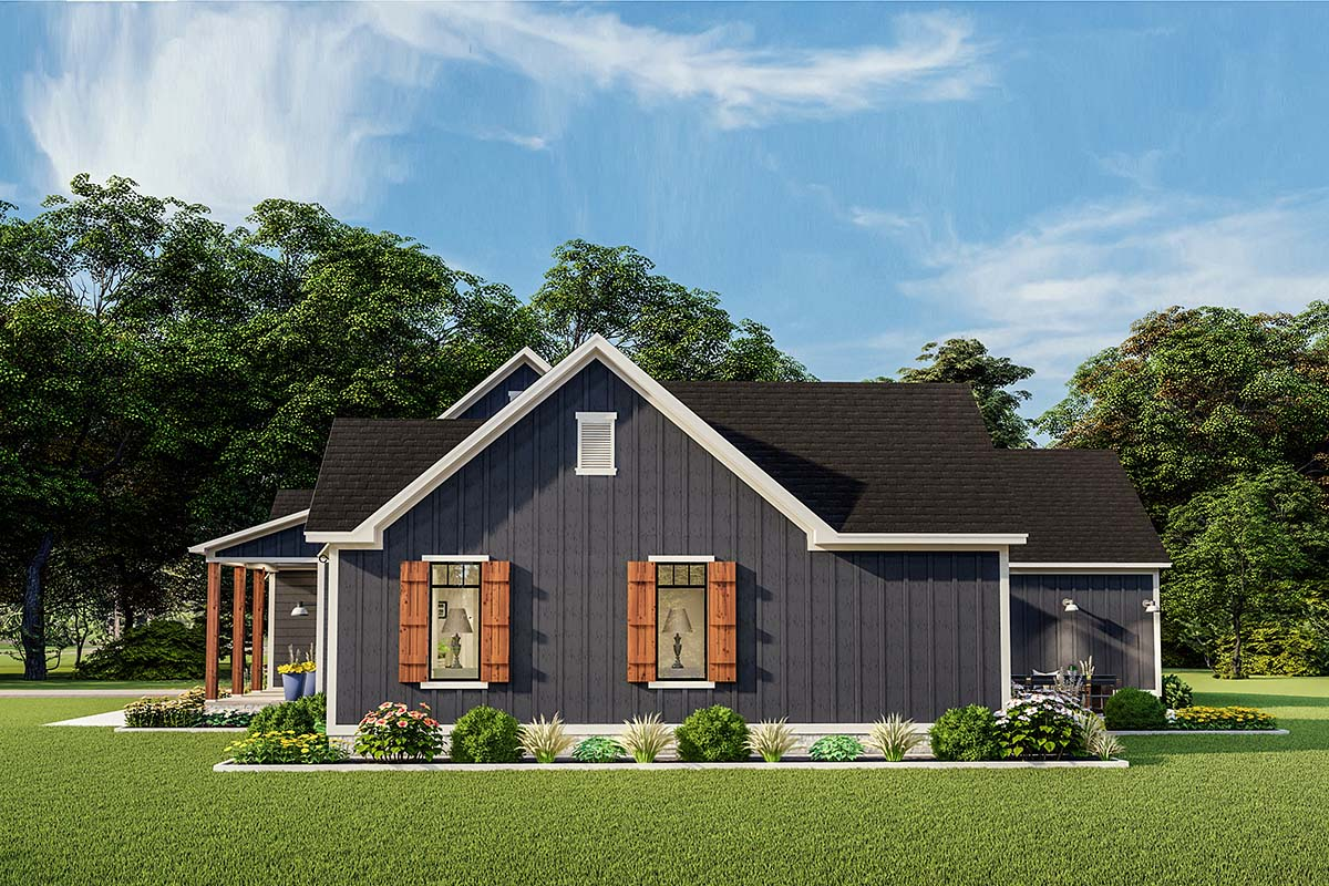 Cottage, Country, Craftsman, Farmhouse, Ranch, Southern, Traditional House Plan 40048 with 3 Beds, 2 Baths, 2 Car Garage Picture 1