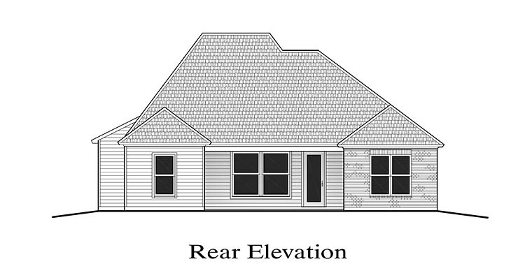 Country European French Country House Plan 40301 Rear Elevation