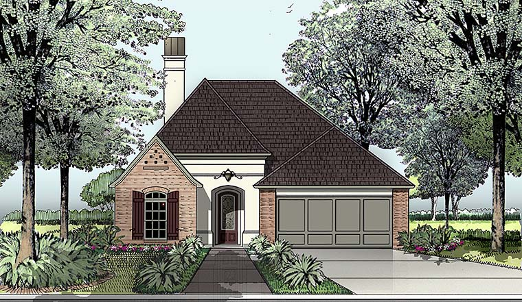 European House Plan 40302 Elevation