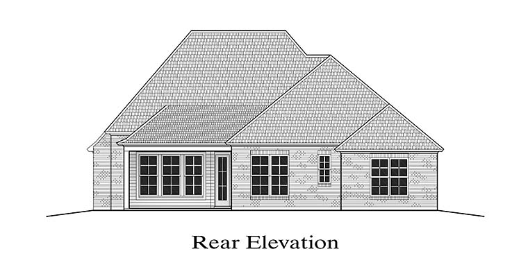 European French Country House Plan 40303 Rear Elevation