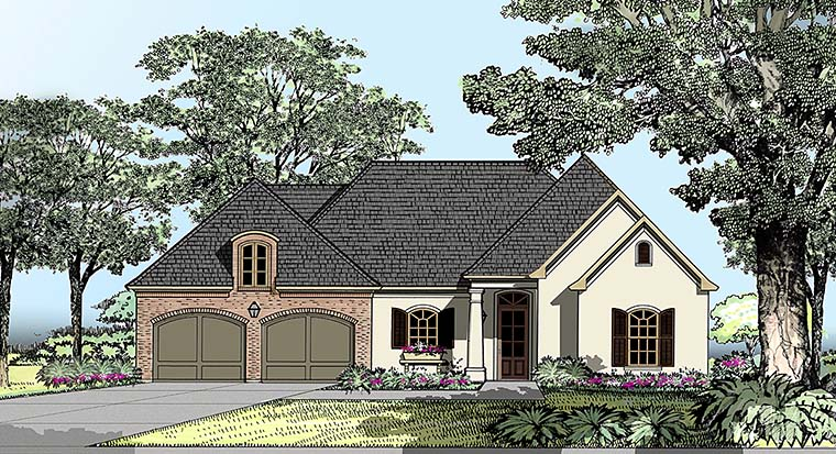 European Southern Traditional House Plan 40305 Elevation