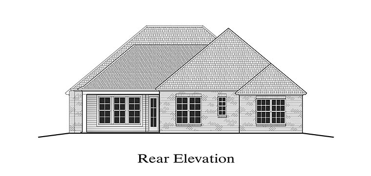 European French Country House Plan 40307 Rear Elevation