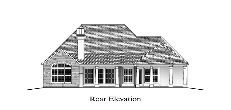 European French Country Southern House Plan 40312 Rear Elevation