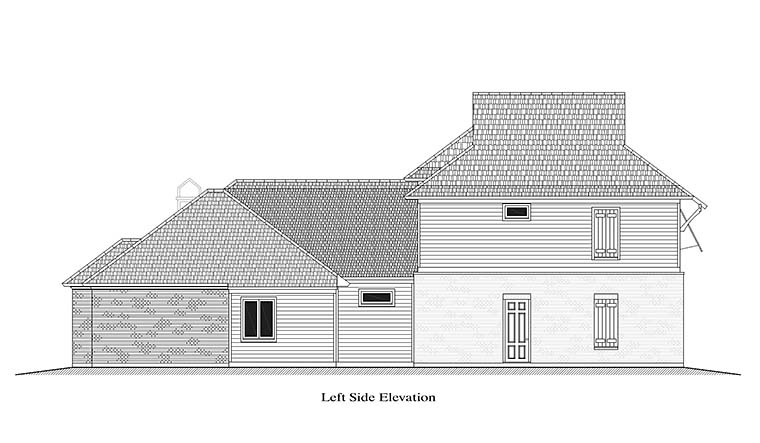 European French Country Southern House Plan 40314