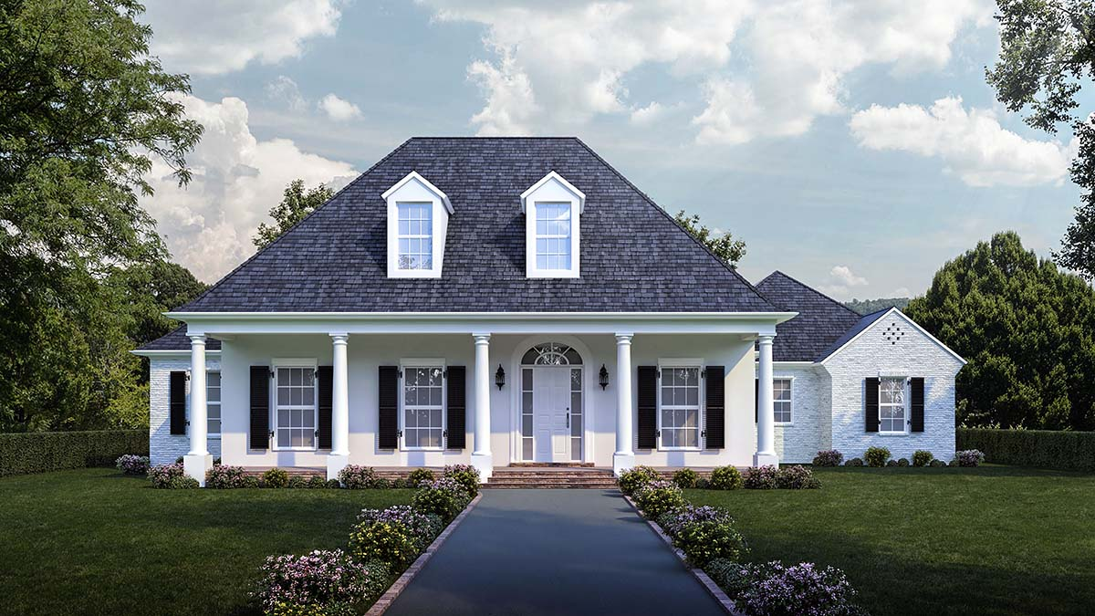 Colonial Florida Southern Elevation of Plan 40315