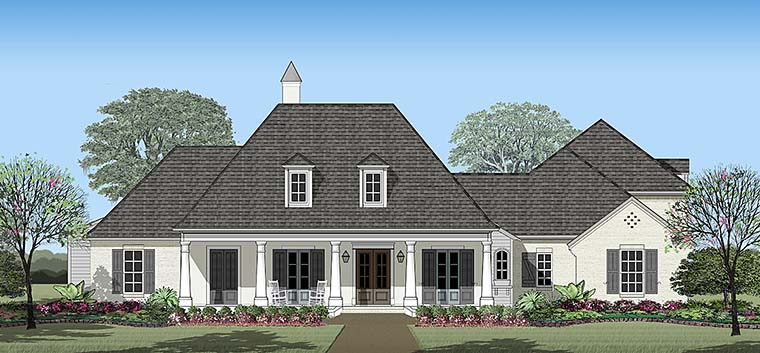 Colonial French Country Southern House Plan 40316 Elevation