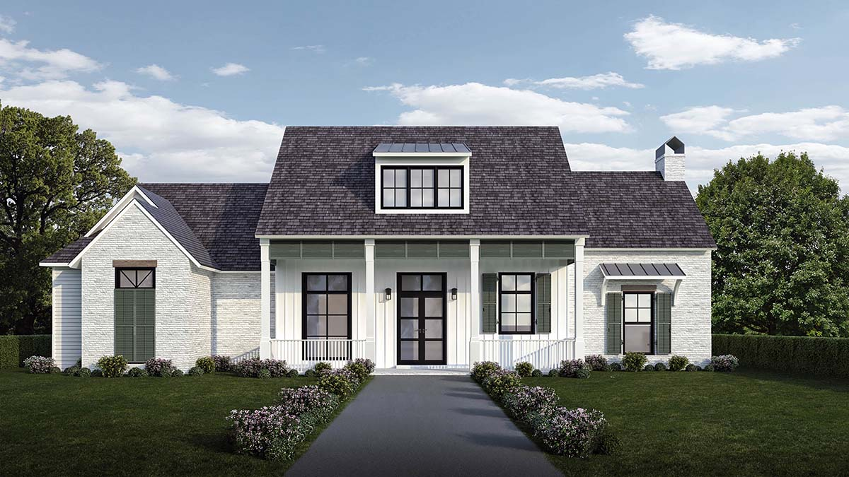Country, Farmhouse, Southern Plan with 2446 Sq. Ft., 4 Bedrooms, 4 Bathrooms, 2 Car Garage Elevation