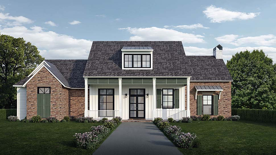 Country, Farmhouse, Southern Plan with 2446 Sq. Ft., 4 Bedrooms, 4 Bathrooms, 2 Car Garage Picture 2