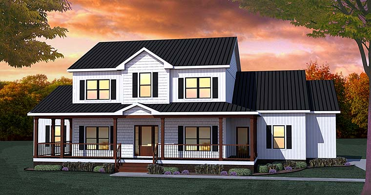 Traditional Garage Plan 40400 Elevation