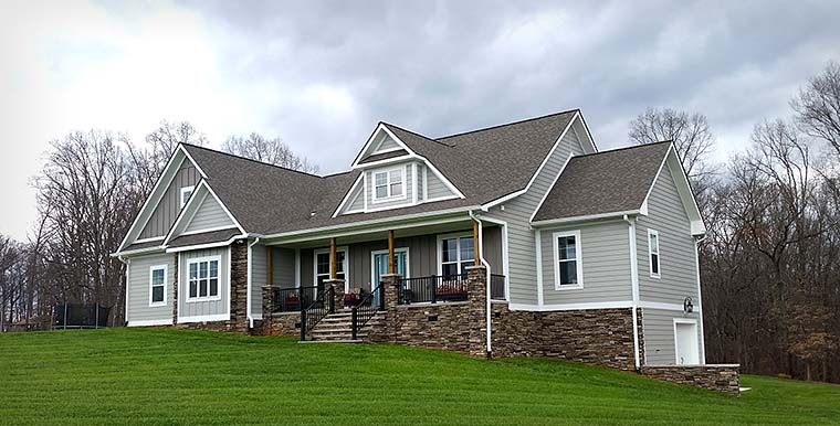 Country Craftsman Southern Traditional House Plan 40403 Elevation