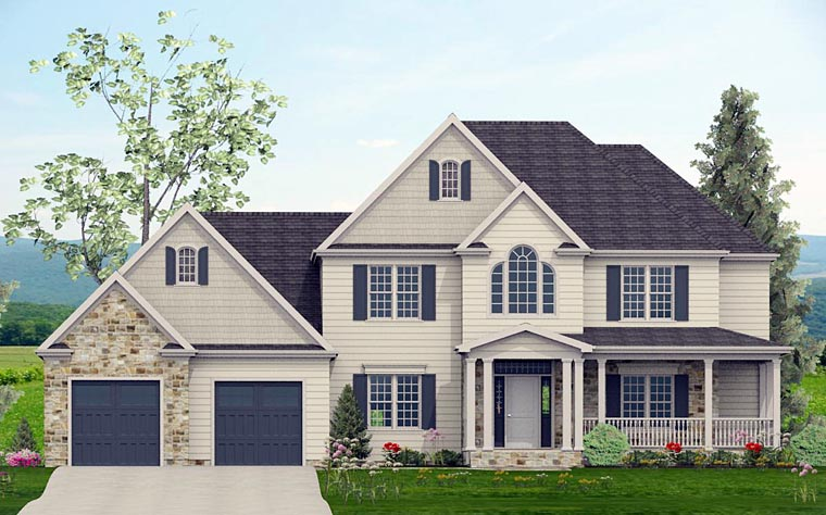 Colonial Country Southern Traditional House Plan 40506 Elevation