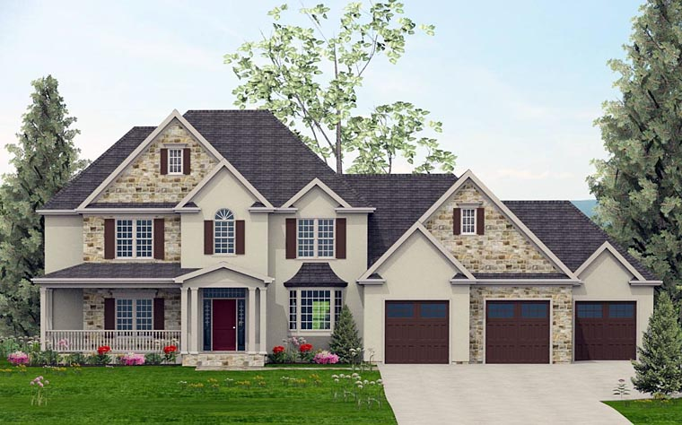 Colonial Country European Southern House Plan 40507 Elevation
