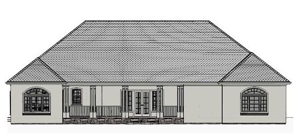 European, Traditional House Plan 40511 with 4 Beds, 4 Baths, 2 Car Garage Rear Elevation