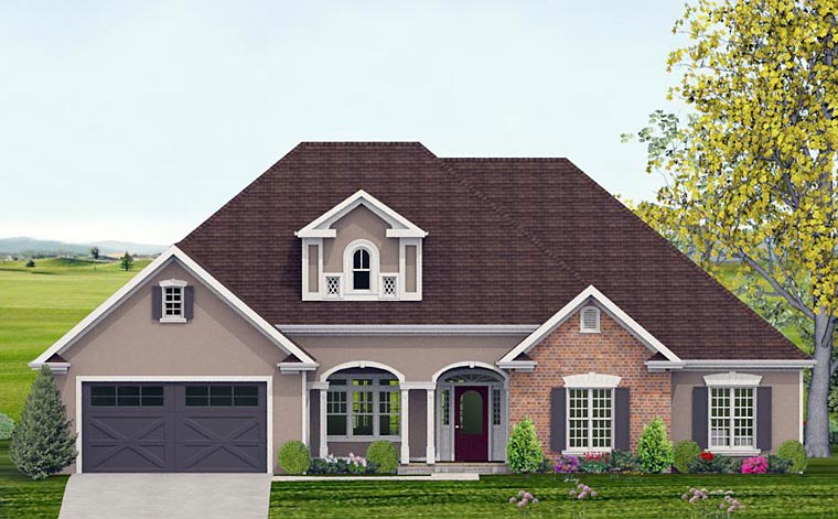 Country, Southern, Traditional House Plan 40512 with 4 Beds, 4 Baths, 2 Car Garage Elevation