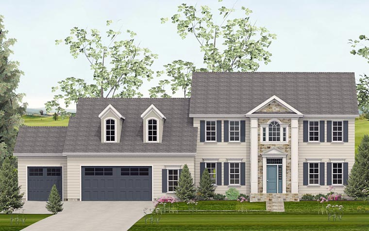 Colonial Southern House Plan 40516 Elevation