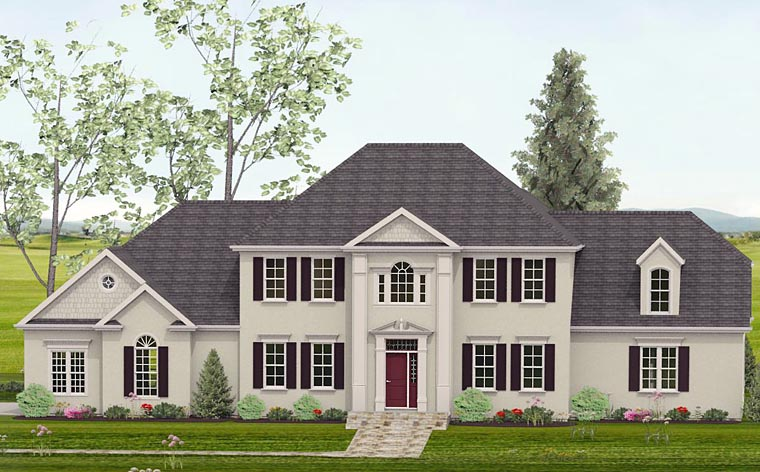 Colonial Southern House Plan 40518 Elevation