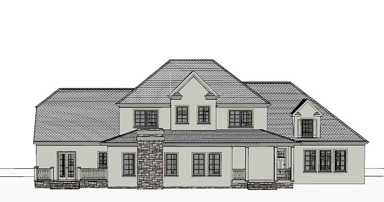 Colonial Southern House Plan 40518 Rear Elevation