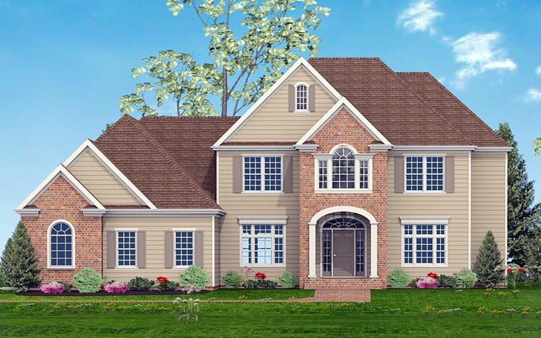 European Southern Traditional House Plan 40520 Elevation