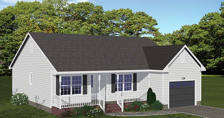 Country, Ranch, Traditional House Plan 40600 with 3 Beds, 2 Baths, 1 Car Garage Elevation