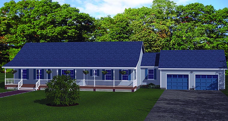 Ranch Traditional House Plan 40605 Elevation