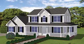 Country , Farmhouse , Southern , Traditional House Plan 40611 with 4 Beds, 3 Baths, 2 Car Garage Elevation
