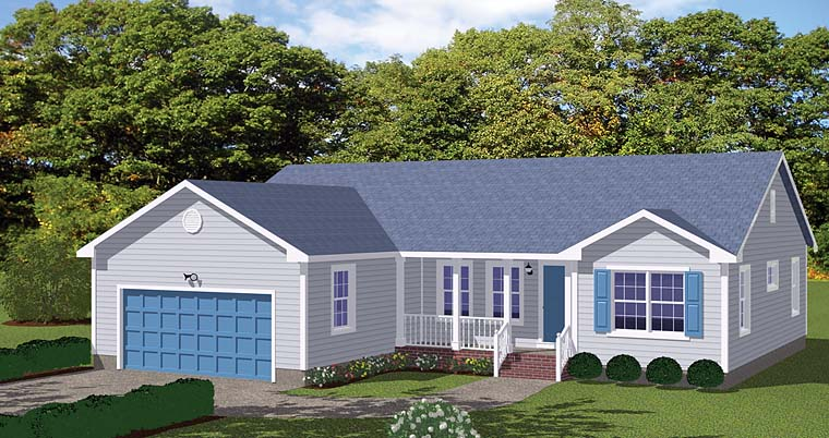 Ranch Traditional House Plan 40613 Elevation