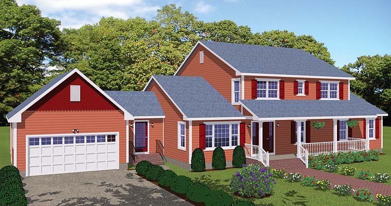 Country Southern Traditional House Plan 40615 Elevation